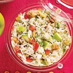 Salade de riz au poulet, pommes et noix - Recettes - Cuisine et nutrition - Pratico Pratiques - Lunch