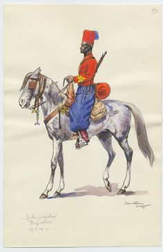 French; Senegalese Spahis,  Brigadier, 1913 by P.A. LeRoux