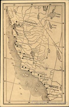 Map of the Missions of California