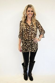 Kloe: Leopard Brown