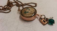 Steampunk copper pipe necklace. NewmansJules.