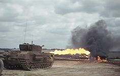 This is a pukka WW2 flamethrower tank - the Churchill Crocodile: