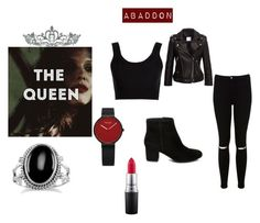 """""""Abaddon"""" by artemis-moonlight on Polyvore featuring Kate Marie, Calvin Klein Collection, Anine Bing, Miss Selfridge, Steve Madden and MAC Cosmetics"""