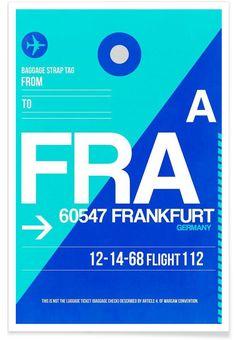 FRA-Frankfurt als Premium Poster von Naxart | JUNIQE