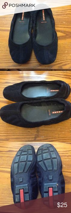 Prada flats Black Prada ballet flats - suede material, really comfortable to walk in Prada Shoes Flats & Loafers