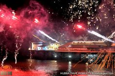 Spectacular New Year Fireworks 2015 Lights up Cromer Pier