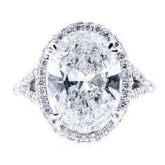 1stdibs - 5 Carat Oval Diamond Ring explore items from 1,700  global dealers at 1stdibs.com