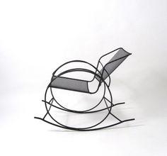 "Design I Love: Russell Woodard Attributed ""Wrought Iron Mesh Rocker"" 1950s"