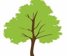 leaves set vector free tree silhouettes vectors clipart svg rh pinterest co uk tree vectors free tree vector silhouette