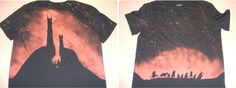 DIY Bleached Stencil T-Shirt|Lord of the rings