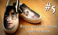 Reason #5 to buy custom to order, hand painted 1 of Two shoes. #harrypotter #vans #fanart
