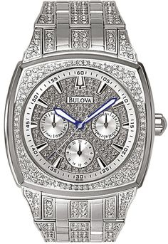BULOVA WATCHES - MENS CRYSTAL
