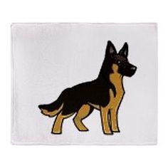 GS cartoon Throw Blanket > German Shepherd > Dogs