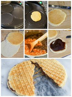 One of the first things I tried when we visited Amsterdam in October was a fresh, hot Stroopwafel (literally translates to syrup waffle) from a stand in the Albert Cuyp Markt. I have enjoyed the pa… Baker Recipes, Amish Recipes, Dutch Recipes, Waffle Recipes, Cookie Recipes, Caramel Waffles, Stroopwafel Recipe, Pizzelle Recipe, Cake