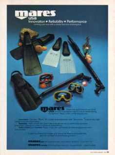 Mares Equipment Ad, Dive History
