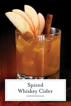 Spiced Whiskey Cider Easy Whiskey Cocktail Recipe - Spiced Whiskey Cider is the perfect fall cocktail using Sagamore Spirit rye whiskey, apple cider, lime juice and simple syrup. # Food and Drink christmas simple syrup Spiced Whiskey Cider Apple Cider Whiskey, Apple Cider Drink, Apple Cider Cocktail, Cider Cocktails, Spiced Apple Cider, Fall Cocktails, Whiskey Cider Recipe, Apple Cider Syrup Recipe, Spiced Nuts