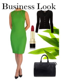 Business Look by tubino-skirts-dresses on Polyvore featuring mode, Michael Kors, Louis Vuitton and Dolce&Gabbana