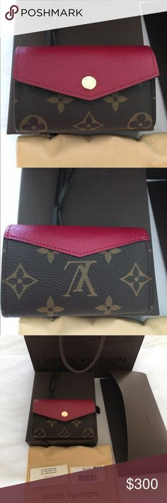 """Authentic Louis Vuitton card case. Authentic Louis Vuitton card case.  Style is multicartes Sarah - very hard to find.  Size is 4""""x3""""x1"""".  Has 4 card slots.  Never used, but there is a slight imperfection on top of third panel (as shown in last photo).  Comes with box, dustbag, tag and bag. I have the receipt - purchased at Saks in Indianapolis in April 2016. 🚫No trades or paypal🚫 Louis Vuitton Bags Wallets"""