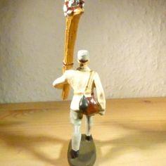 Elastolin Gebirgsjäger mit Ski 7,5cm Lineol, Massefiguren Wehrmacht (9) | eBay