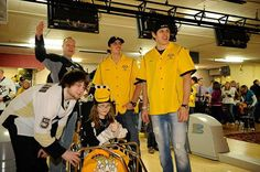 Evgeni Malkin and Marc-Andre Fleury cheer on their team at the 2012 Pens & Pins