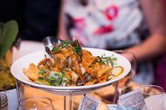 Crisp skin pork belly w sweet roasted corella pears & apples, Forte Catering & Events #tablebuffet #wedding #inlightenphotography #cellblocktheatre