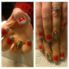 Blackhawks Nails! #love #nailart