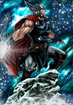 Thor - Fan Art Created by Javier Jordan Sola (Barfast)