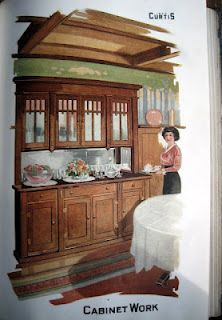 1917 Curtis Millwork catalog. Dining Room built-in cabinet.