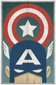 Super cool captain America poster
