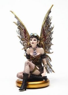 Steampunk Fairy Perched on Compass