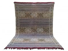 Handwoven Faded blue Berber kilim Vintage Flat Wool and silk Blue Rug Teppich Tapis Moroccan Berber Blue BENI OURAIN Moroccan rug kilim Saddle Blanket, Berber Rug, Kilim Rugs, Moroccan, Bohemian Rug, Hand Weaving, Carpet, Handmade, Beni Ourain