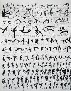 language...the symbol, the stroke of the pen, the forming of a word, the movement of the gesture, the hand in space, the body in space... a dance.   Gabriel Lalonde. À l'ombre des corbeaux, 2012