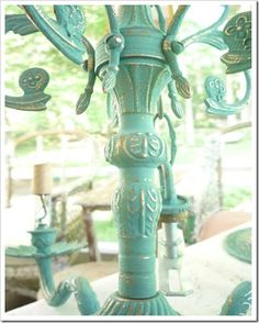 Our Southern Vintage rental company is deciding on which color to paint a vintage chandelier that is shaped just like this one. Need everyone to help us decide by liking color you like most...