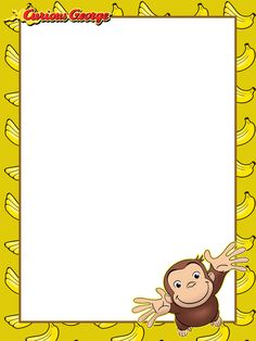 Curious George Party, Curious George Birthday, Curious George Coloring Pages, Preschool Lesson Plans, Free Sign, Third Birthday, Writing Paper, Birthday Parties, Birthday Ideas