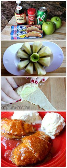 Easy Apple dumplings recipe for fall! #Dessert | CraftyMorning.com