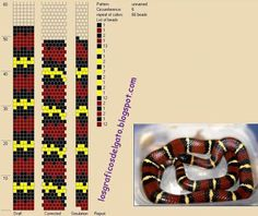 Bead Crochet Patterns, Bead Crochet Rope, Beading Patterns, Loom Bracelet Patterns, Jewelry Patterns, Seed Bead Bracelets, Loom Bracelets, Snake Patterns, Beaded Animals