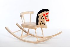 Rocking Horse, Wooden Rocking Horse Classical, Traditional Rocking Horse