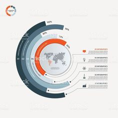 Circle infographic template with 5 options. royalty-free circle infographic template with 5 options business concept stock vector art & more images of number 5 Web Design, Graph Design, Chart Design, Design Blog, Design Resume, Circle Design, Urban Design, Design Trends, Circle Infographic