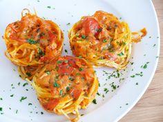 herzhafte vegane Spaghetti-Muffins   Vegane Küche - vegan kochen ist nicht schwer