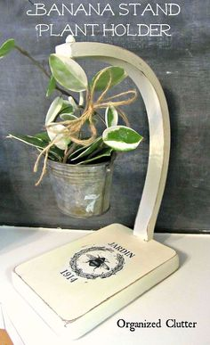 Hometalk :: Thrift Shop Banana Stand House Plant Holder