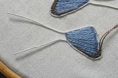 Cosa en el Amor: Elementos de tela con cable para stumpwork