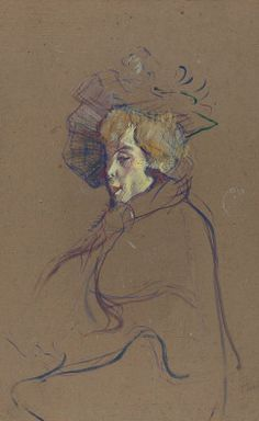 By Henri de Toulouse-Lautrec (1864-1901), 1892, Jane Avril, oil on cardboard mounted on wood. National Gallery of Art