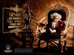 Masters of music aren't born every day, but they play every year. Season 2014 of the Tribanco Concerts. Advertising Agency: Agencia Sic, Uberlândi
