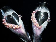 Schöne Hand verziert Rosa romantische Hochzeit von JoliefleurDeco