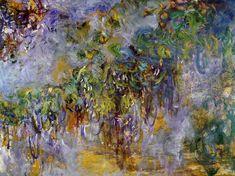 Wisteria (right half) - Claude Monet