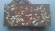 Tavoletta di finissimo cioccolato al latte e scorza d'arancio www.cioccolatotavoletta.it