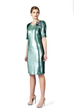 Turquoise sequin dress. www.byplakinger.com