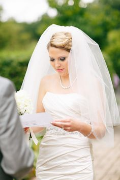 #Veil Style | See the wedding on SMP:  http://www.StyleMePretty.com/illinois-weddings/wheaton/2013/12/11/cantigny-park-wedding/ Kina Wicks Photography