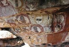Aborigional alien cave painting