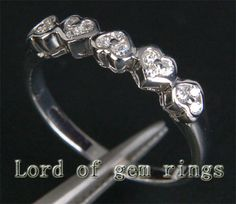 $396 Shop Diamond Wedding Band Half Eternity Anniversary Ring 14K White Gold at Lord of Gem Rings at great price. Free shipping and easy 30-day returns to USA or Canada. Buy Now and Save!